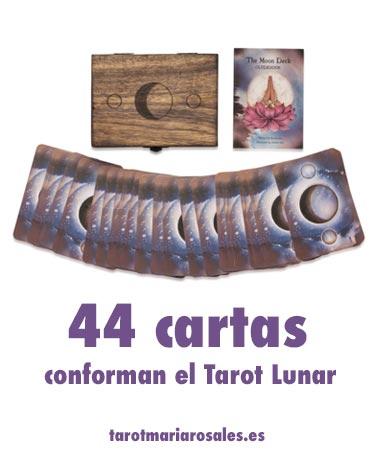 44 cartas conforman el tarot lunar