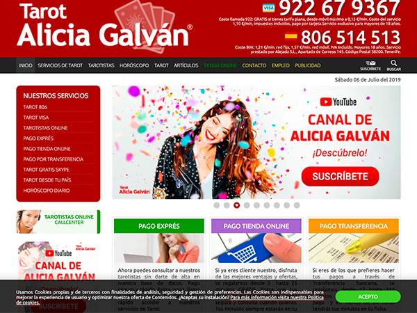 sitio web alicia galvan