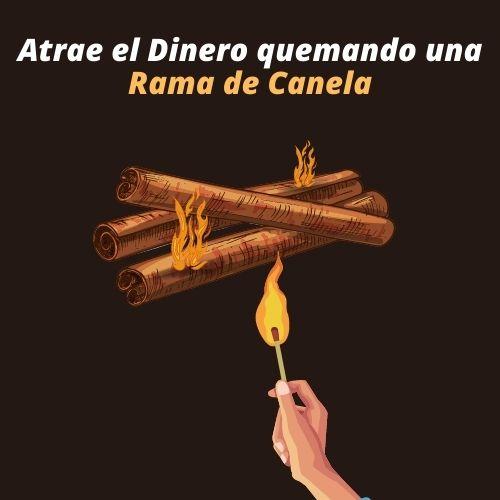 Ritual para ATRAER EL DINERO Quemando una Rama de CANELA 3